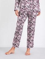 Yolke Camo-print stretch-silk pyjama bottoms