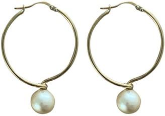 Celine Gold Metal Earrings