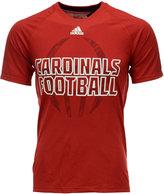 adidas Men's Louisville Cardinals Sideline Helmet Shock T-Shirt