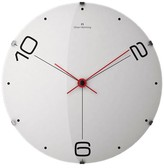 "Oliver Hemming Wall Clock with Dot and Number Dial - White (20"")"
