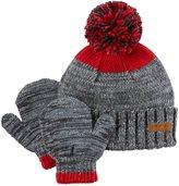 Carter's Little Boys' Color Block Flap Ear Hat & Mitten Set (2-4T, Red)