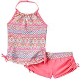 Free Country Girls 7-16 Batik Halter Tankini & Boy Shorts Swimsuit Set