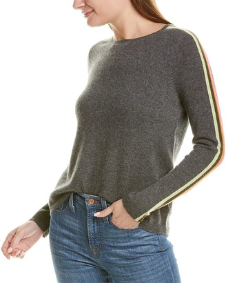LISA TODD Stripe Hype Cashmere Sweater