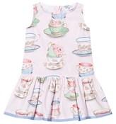 MonnaLisa Pink Teacup Drop Waist Dress