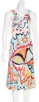 Emilio Pucci Psychedelic Print Midi Dress