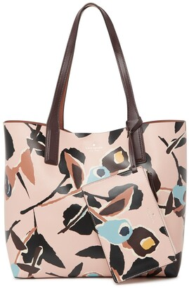 Kate Spade Abstract Print Reversible Leather Tote