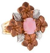 Ring 14K Pink Opal Floral