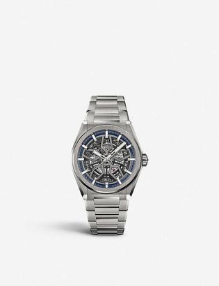 Zenith 95.9000.670/78.M9000 Defy Classic titanium automatic skeleton watch