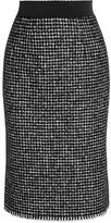 Dolce & Gabbana Tweed Pencil Skirt - Black