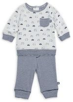 Offspring Baby Boy's Two-Piece Traffic Circles Sweater and Jogger Pants Set