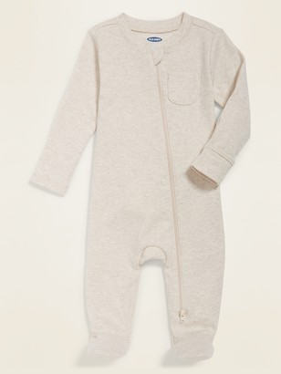 Old Navy Unisex Solid Footie Pajama One-Piece for Baby