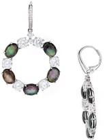 Nadri Embellished Circle Drop Earrings