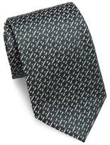Giorgio Armani Triangle Motif Slim Silk Tie