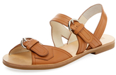 Jil Sander Navy Double Buckle Leather Sandal