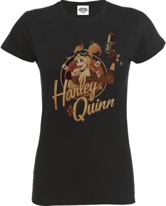 Dc Comics Women's Ladies TEE: Harley Quinn T - Shirt Grey 16 (Manufacturer Size: Xx-Large)