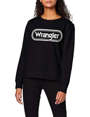 Wrangler Women's Crew Sweat Sweatshirt, (Blue Shadow 15J), L