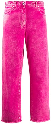 Cédric Charlier Fringed Cropped Jeans