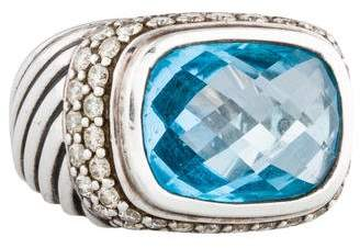 David Yurman Topaz & Diamond Ring