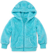 Arizona Long-Sleeve Teddy Bear Hoodie - Toddler Girls 2t-5t