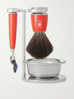 Mühle Rytmo Four-piece Chrome And Resin Shaving Set - Colorless