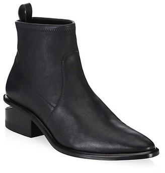 Alexander Wang Kori Rhodium & Stretch-Leather Sock Boots