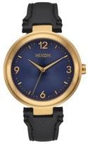 Nixon 'Chameleon' Leather Strap Watch, 39mm
