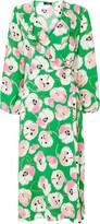 Wallis Green Floral Print Wrap Midi Dress