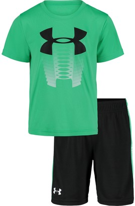 Under Armour Boys 4-7 Logo Graphic Tee & Shorts Set