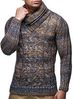 Leif Nelson LN6001 Men's Knitted Pullover With Turtleneck Collar; Size S