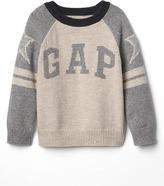 Gap Varsity-sleeve logo sweater