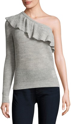 Rebecca Taylor One-Shoulder Ruffle Sweater