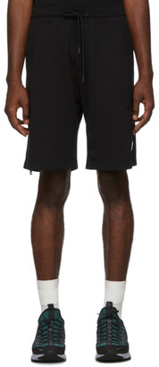 Moncler Black Side Zip Shorts