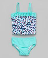 KensieGirl Blue Leopard Tankini - Toddler & Girls