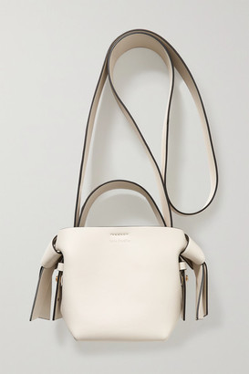 Acne Studios Micro Knotted Leather Shoulder Bag - Ecru