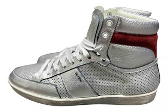 Saint Laurent Court Silver Leather Trainers