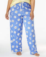 Hue Plus Size Printed Knit Pajama Pants