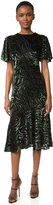 Prabal Gurung Short Sleeve Flared Skirt Dress with Side Slits