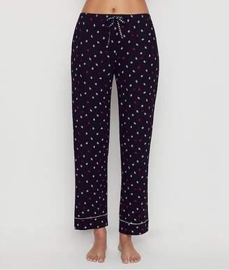 DKNY Black Lips Jersey Knit Pajama Pants