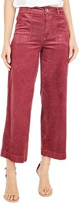 Paige Anessa w/ Patch Utility Pockets (Vintage Victorian Rose Velvet) Women's Casual Pants