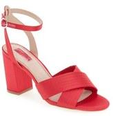 Topshop Women's 'Rich' Cross Strap Sandal