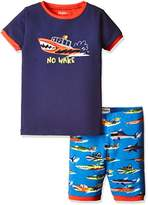 Hatley Boy's Organic Cotton Short Sleeve Appliqué Pyjama Sets