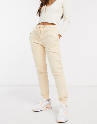 Criminal Damage joggers in light beige