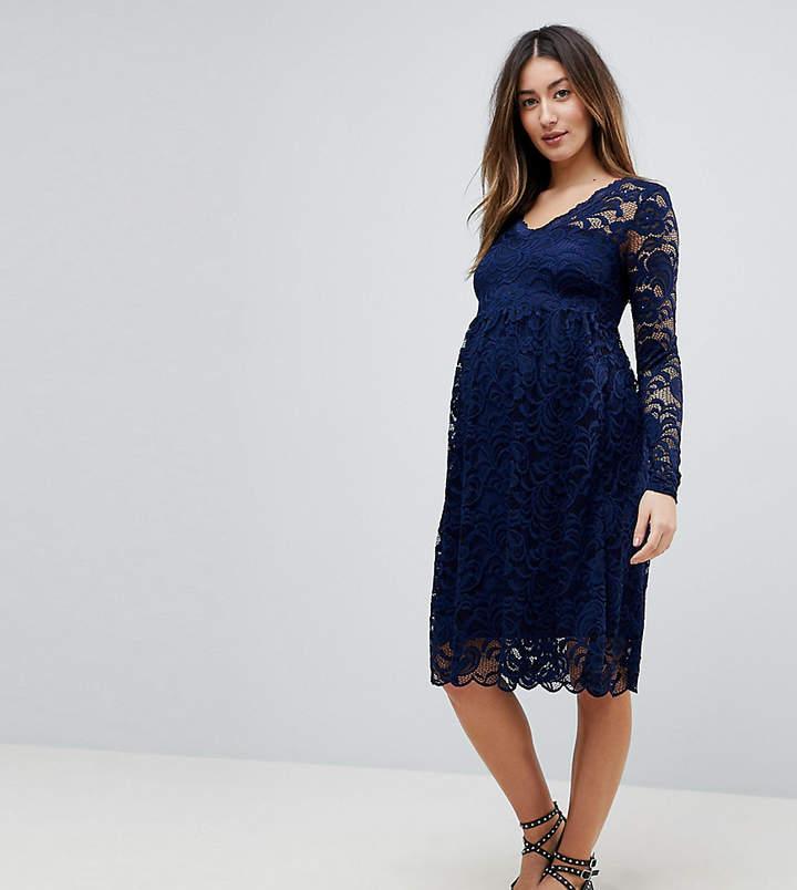 Mama Licious Mama.licious Mamalicious Lace Skater Dress