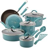 Rachael Ray Cucina 12-Piece Agave Blue Cookware Set with Lids