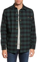 Timberland Men's Check Shirt Jacket With Faux Shearling Lining