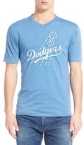 Red Jacket 'Los Angeles Dodgers - Calumet' Graphic V-Neck T-Shirt
