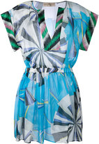 Emilio Pucci graphic print dress - women - Silk - 42