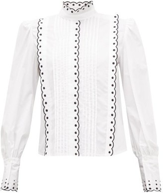 See by Chloe Scalloped Cotton Blouse - Womens - White