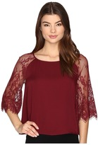BB Dakota Golding Lace Detailed Top