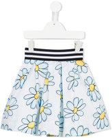 MonnaLisa floral print skirt - kids - Cotton/Polyamide - 3 yrs